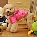 povoljno Odjeća za psa i dodaci-Pas Kaputi Hoodies Pidžama Zima Odjeća za psa purpurna boja Pink Kostim Pamuk Jednobojni Ležerno / za svaki dan S M L XL XXL