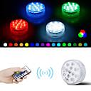 povoljno Fleksibilne LED svjetlosne trake-1 set vodonepropusna LED svjetiljka s daljinskim potopnim svjetlima za ukrašavanje svjetla za 8,5 cm-sa 28 tipki na daljinskom upravljaču