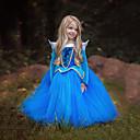 povoljno Halloween smink-Aurora Haljine Cvjetna djevojka haljina Dječji Djevojčice Božić Halloween Maškare Festival / Praznik Polyster Plava / Pink Karneval kostime Color block / Haljina / Haljina