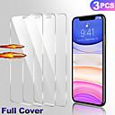 رخيصةأون أغطية أيفون-AppleScreen Protectorاي فون 11 (HD) دقة عالية حامي شاشة أمامي 3 قطع زجاج مقسي