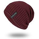 povoljno Zimski modni dodaci-Muškarci Jednobojni Osnovni Poliester-Skijaška kapa Crn Lila-roza Braon