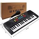 olcso zenegép-Elektronikus billentyűzet Zongora Móka Mikrofonnal Gyermek Ajándék Fiú Lány Ajándék