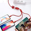 ieftine USB-uri-1,2m cablu de încărcare universal universal împletit din 1 la 3 nylon