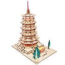 povoljno Muške jakne-Drvene puzzle Toranj Poznata zgrada Kineska arhitektura Kuća Stručni Razina drven 1pcs Dječji Dječaci Poklon