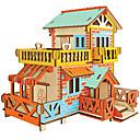 ieftine Întrerupătoare & Prize-Puzzle 3D Puzzle Modele de Lemn Μοντέλα και κιτ δόμησης Case Modă Castel Casă Clasic Modă Model nou Copii Reparații cald Vânzare Lemn 1pcs