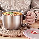 ieftine Caserole-Vas de taitei instant din oțel inoxidabil de 1300 ml cu capac mâner anti-scalding recipient de mâncare recipient pentru supă de orez