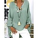 ieftine Seturi de Bijuterii-Pentru femei În V - Mărime Plus Size Bluză Mată Negru / Larg