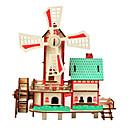 povoljno 3D zagonetke-3D puzzle Puzzle s klinom Építőjátékok Poznata zgrada Kineska arhitektura Zabava Drvo Klasik Dječji Uniseks Igračke za kućne ljubimce Poklon