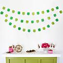 ieftine Pungi & Cutii-Banner-urile din ziua irlandeză sunt atârnate cu șiruri de ornamente tâmple. activitățile din ziua irlandeză decorează frunzele