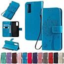 povoljno Maske/futrole za Galaxy S seriju-Θήκη Za Samsung Galaxy S9 / S9 Plus / S8 Plus Novčanik / Utor za kartice / sa stalkom Korice Jednobojni / drvo PU koža