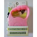 ieftine Câini Gulere, hamuri și Curelușe-Câine Lese Ajustabile / Retractabil textil Plastic Culoare aleatorie