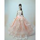 ieftine Haine Păpușă Barbie-Rochie de papusa Petrecere / Seară Rochie De Bal 5 pcs Pentru Barbie Dantelă Satin / Tul Dantelă Satin Rochie Pentru Fata lui păpușă de jucărie