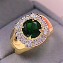 povoljno Muški satovi-Muškarci Prsten 1pc Zlato Kamen Imitacija dijamanta Krug Stilski Dar Festival Jewelry Klasičan Cvijet