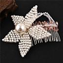 ieftine Bijuterii de Păr-Pentru femei Piepteni de Păr Pentru Evenimente / Petrecere Logodnă Petrecere Nuntă Floare Stil Floral Imitație de Perle Articole de ceramică Aliaj Alb / Argintiu 1 buc
