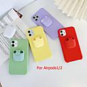 povoljno iPhone maske-iphone11pro max bluetooth slušalice airpods 1/2 generacije futrola za pohranu mobilnog telefona futrola xs max čista boja tekući silikon 6/7 / 8plus zaštitna futrola od pada