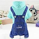 ieftine Imbracaminte & Accesorii Căței-Câine Salopete Îmbrăcăminte Câini Buline Albastru Roz Îmbrăcăminte Oxford Bumbac Costume Pentru Primăvara & toamnă Iarnă Casul / Zilnic