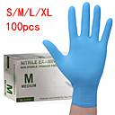 povoljno Elektronika za osobnu njegu-100pcs otporne na habanje i izdržljive nitrilne rukavice za jednokratnu upotrebu gumene rukavice za čišćenje hrane za kućanstvo antistatičke plave