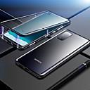 abordables Etuis / Couvertures pour Huawei-étui magnétique double face pour huawei nova 6 / honor v30 / p smart z antichoc / transparent en verre trempé / étui en métal pour huawei mate 30 pro / honor 9x pro / y9 prime (2019) / honor 20 pro /