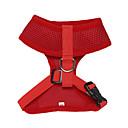 ieftine Câini Gulere, hamuri și Curelușe-Pisici Câine Hamuri Respirabil Ajustabile / Retractabil Mată Plasă Nailon Negru Negru / Roșu Culoare Camuflaj