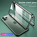 étui magnétique pour iphone 11 xr se2020 verre double face protection 360 étui de protection clair adsorption par aimant en métal étui de téléphone portable pour iphone 11 pro max xsmax xs x 8 plus 7