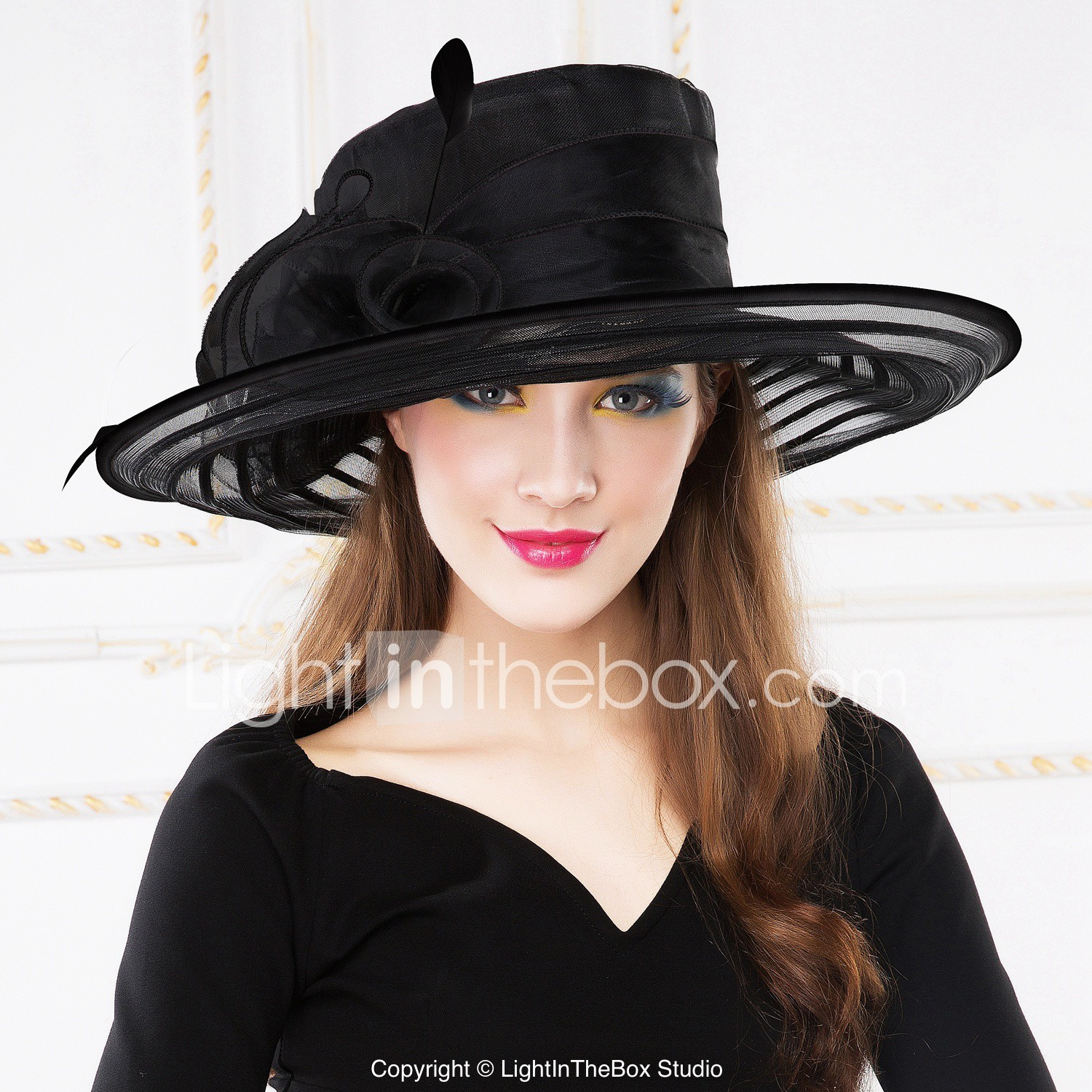 Women Organza Hats With Wedding Party
