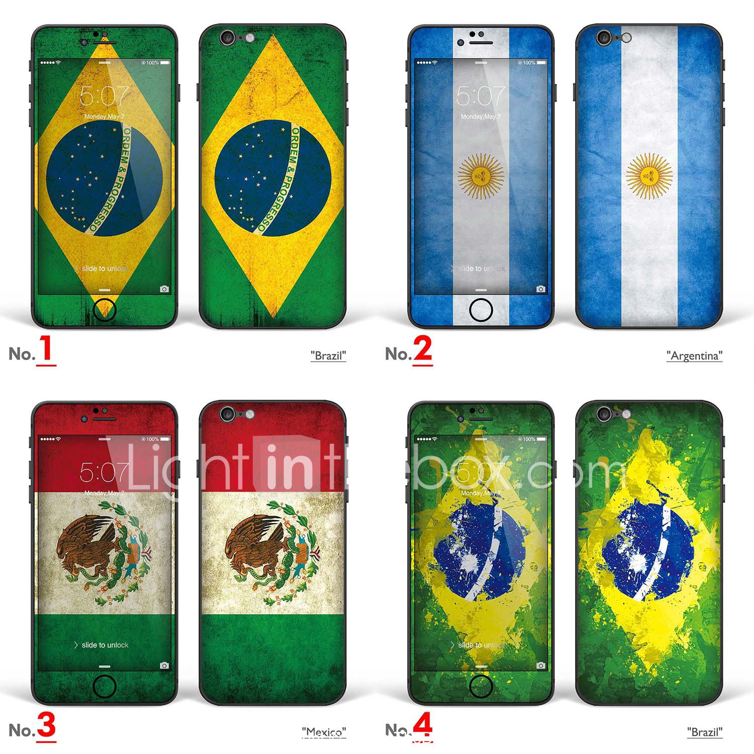 Iphone 6 6s Body Art Skin Sticker Brazil Argentina Mexico Flags Series 4819354 2020 7 99