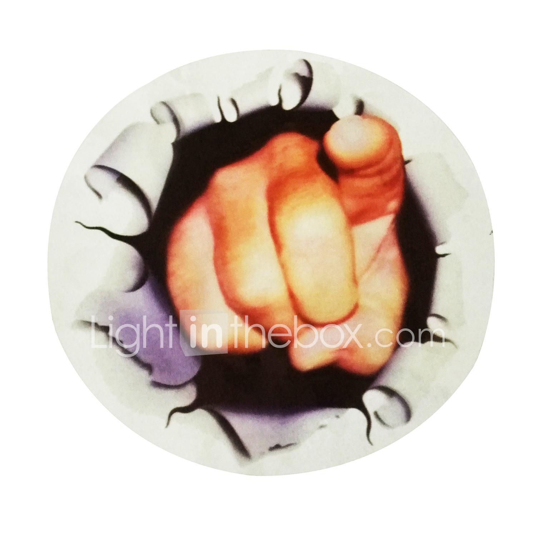 Ziqiao Car Window Sticker New Funny Car Sticker 3d Finger