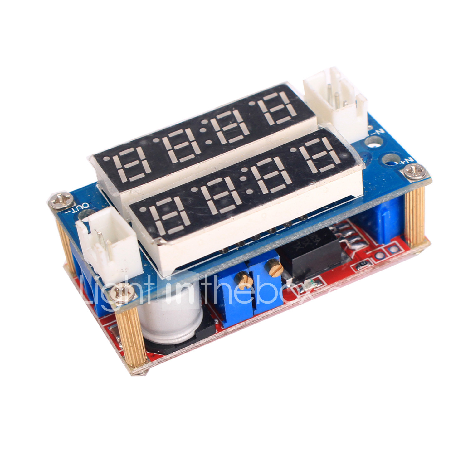5A Adjustable Power CC//CV Step-down Charge Module LED Driver With Red Voltmeter