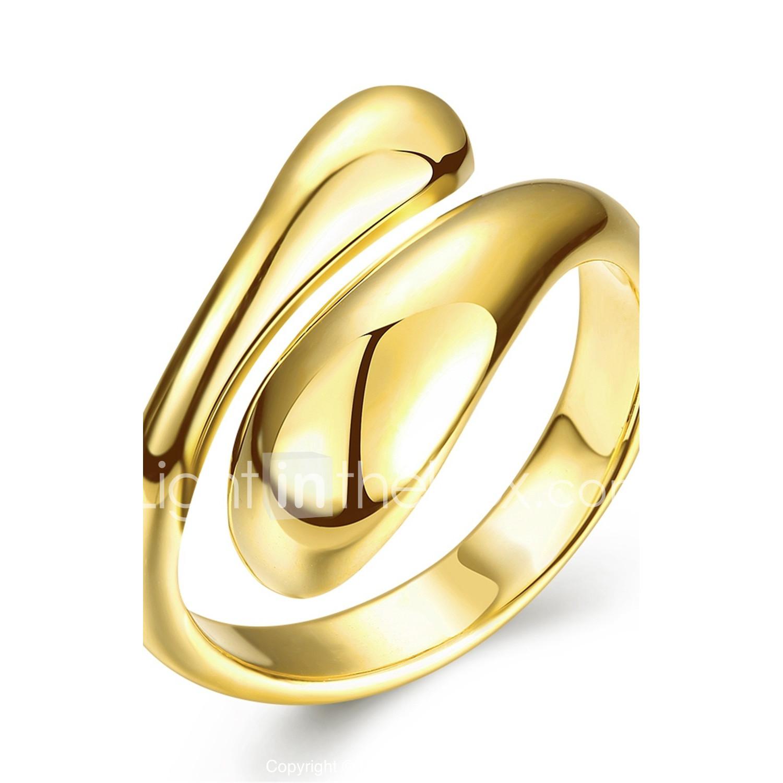 Damen Ring Wickelring Golden Silber Rose Rosegold Kupfer