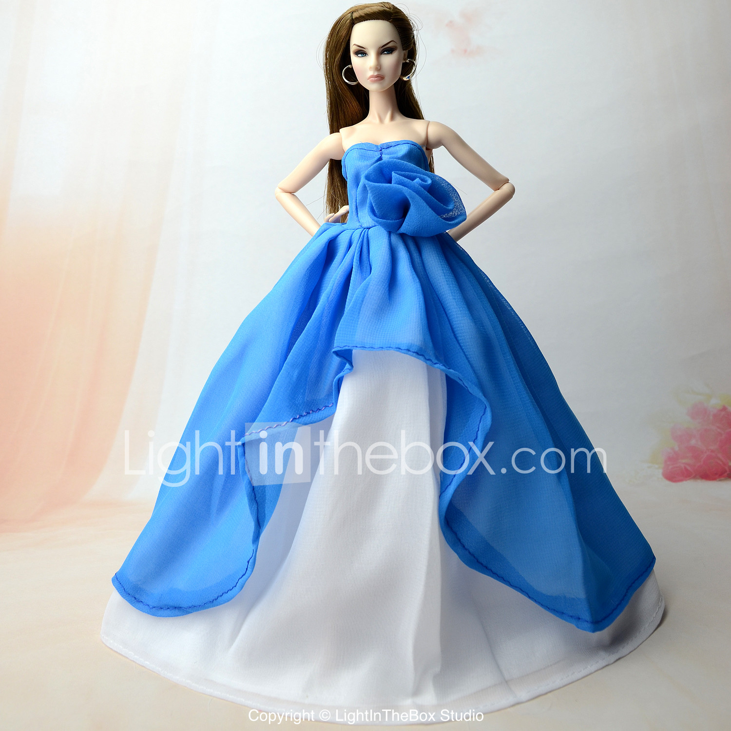 "1 Pcs Fashion Sequin Sky Blue Mermaid Dress for 11/""  Dolls New   FJ"