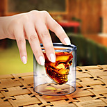 cheap -Creative Crystal Skull Shot Double Layer Glass Cocktail Beer Cup