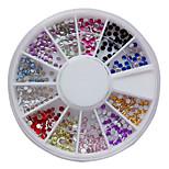 Недорогие -12 цветов 2мм Nail Art акриловые Стразы Nail Art Decoration