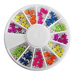 Недорогие -Смешанная цвета конфеты Люминесцентная в форме звездочки Nail Art Декорация