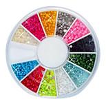 Недорогие -144PCS 12-Цвет 2мм Малый ногтей шарики шарика Nail Art Decotations