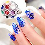 Недорогие -1PCS шестиугольная Блеск Таблетки Nail Art украшения № 1-6 (разных цветов)