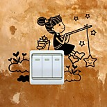 cheap -People Wall Stickers Plane Wall Stickers Light Switch Stickers, Vinyl Home Decoration Wall Decal Wall