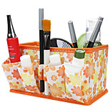 Folding Quadrate Cosmetics Storage Stand Box Makeup Brush Pot Cosmetic Organizer 3 Color Choose