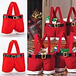 cheap -1Pc 22*15Cm  Santa Claus Pants Candy Bag Home Decoration Storage Bag