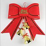 Недорогие -украшение рождественской елки красная бабочка узел 10см свежий стиль