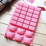 Недорогие -квадрат медведь торт плесень льда желе формы шоколада, силиконовая 18,1 × 12,6 × 2 см (7,1 × 5 × 0,8 дюйма)