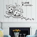 Недорогие -настенные наклейки наклейки на стены, кофе английских слов& цитирует наклейки стены PVC