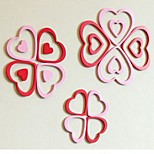 cheap -3D Wall Stickers Wall Decals, 5Pcs Multicolors Contemporary Design Heart Shape Wooden Wall Stickers