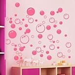 Недорогие -стикеры стены наклейки на стены, милые красочные ПВХ съемных красота розовые наклейки стенки пузыря.