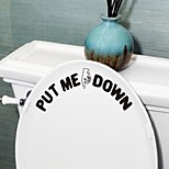 cheap -Shapes Words & Quotes Wall Stickers Plane Wall Stickers Toilet Stickers, PVC Home Decoration Wall Decal Toilet