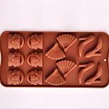 Недорогие -высокой пятки формы торт лед желе Формы для шоколада, силиконовая 21 × 10,7 × 1,5 см (8,3 × 4,2 × 0,6 дюйма)