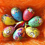Недорогие -красочным узором пасхальное яйцо, случайный цвет, 6 шт / мешок