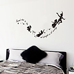 cheap -Wall Stickers Wall Decals,  Secord Star to the Right  English  Words & Quotes PVC Wall Stickers