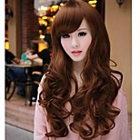 cheap -Fluffy big wave curly hair inclined bang nylon hair wigs