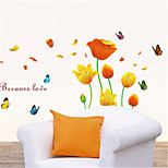 cheap -Animals Still Life Florals Wall Stickers Plane Wall Stickers Decorative Wall Stickers Material Removable Home Decoration Wall Decal