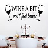 Недорогие -настенные наклейки наклейки на стены, стиль, вина чашки ПВХ наклейки для стен